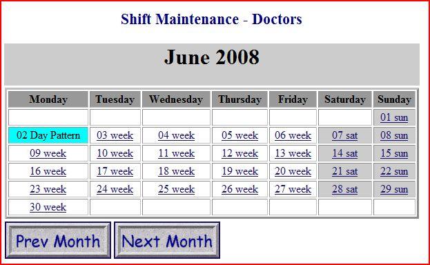 Non Clickable calendar